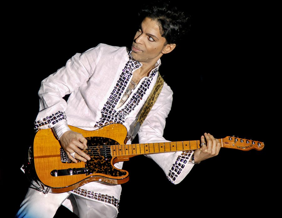 INDIO, CA - APRIL 26: Prince performs at Day 2 of the Coachella Music And Arts Festival on April 26, 2008 at Empire Polo Grounds in Indio, California. (Photo by Barry Brecheisen/WireImage) Prince